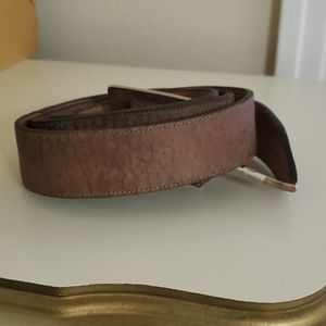 Camel hide belt